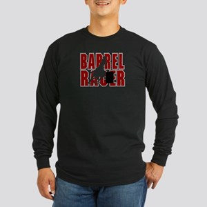 BARREL RACER [maroon] Long Sleeve Dark T-Shirt